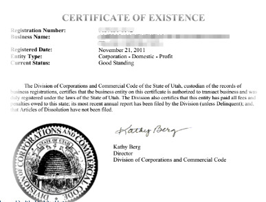 美国公司注册资料